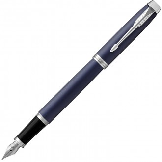 Перьевая ручка Parker IM Metal Matte Blue CT