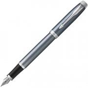 Перьевая ручка Parker IM Metal Light Blue Grey CT