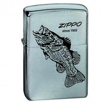 Зажигалка ZIPPO 200 Black Bass