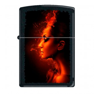 Зажигалка ZIPPO 218 Burning Woman