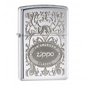 Зажигалка ZIPPO Crown Stamp™ High Polish Chrome