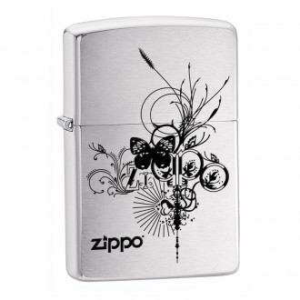 Зажигалка ZIPPO Classic 24800 Brushed Chrome
