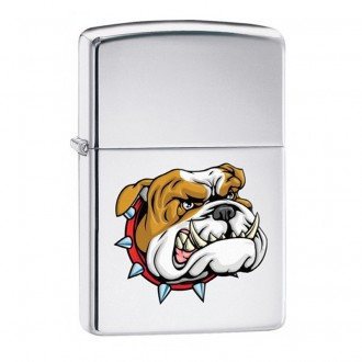 Зажигалка ZIPPO Бульдог High Polish Chrome