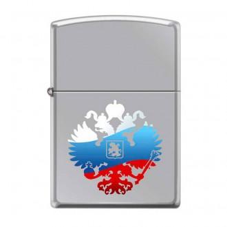 Зажигалка ZIPPO Двуглавый орёл High Polish Chrome