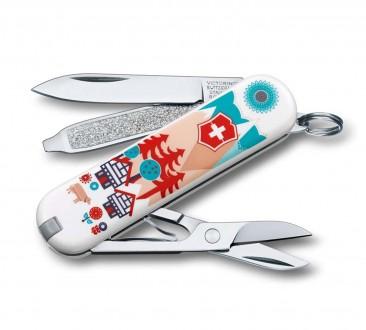 "Нож-брелок VICTORINOX Classic ""Swiss Village"""
