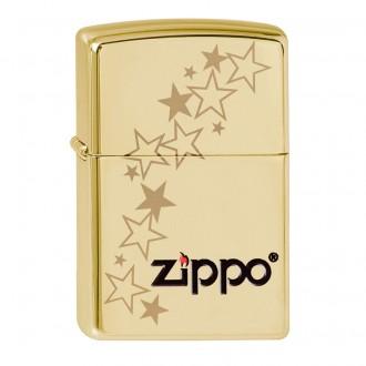 Зажигалка ZIPPO Classic 254B Zippo stars High Polish Brass