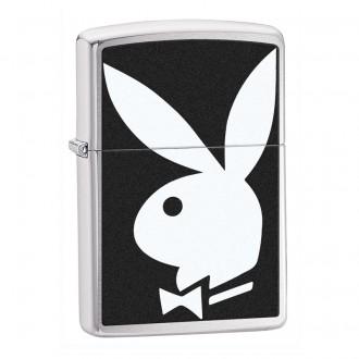 Зажигалка ZIPPO Playboy® Brushed Chrome