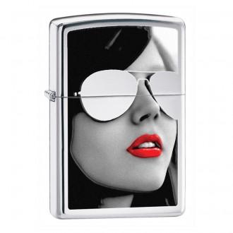 Зажигалка ZIPPO Sunglasses High Polish Chromeм