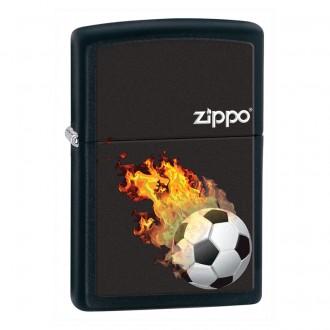 Зажигалка ZIPPO Soccer Black Matte