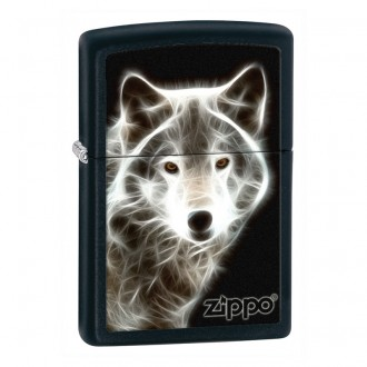 Зажигалка ZIPPO White Wolf Black Matte