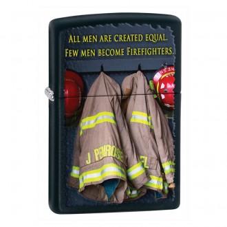 Зажигалка ZIPPO Fireman Сoats Black Matte