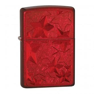 Зажигалка ZIPPO Stars Candy Apply Red