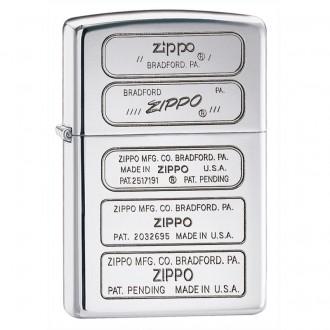 Зажигалка ZIPPO Stamped High Polish Chrome