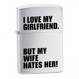 Зажигалка ZIPPO Iove My Girl Brushed Chrome