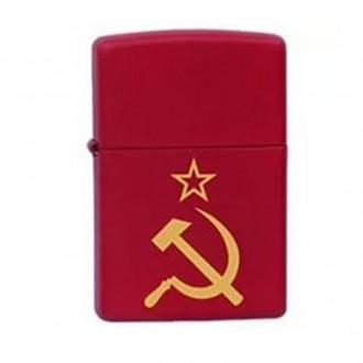 Зажигалка ZIPPO Серп и Молот Red Matte